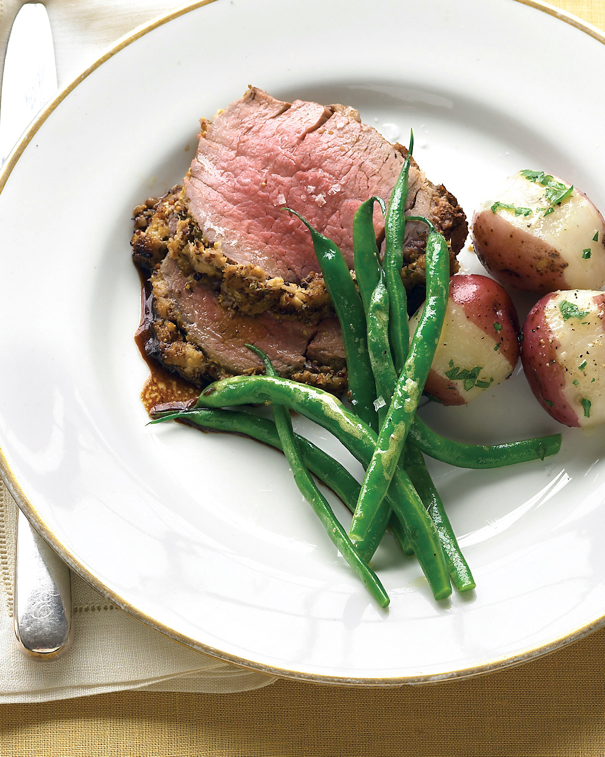 Beef Tenderloin with Fresh Herbs and Horseradish