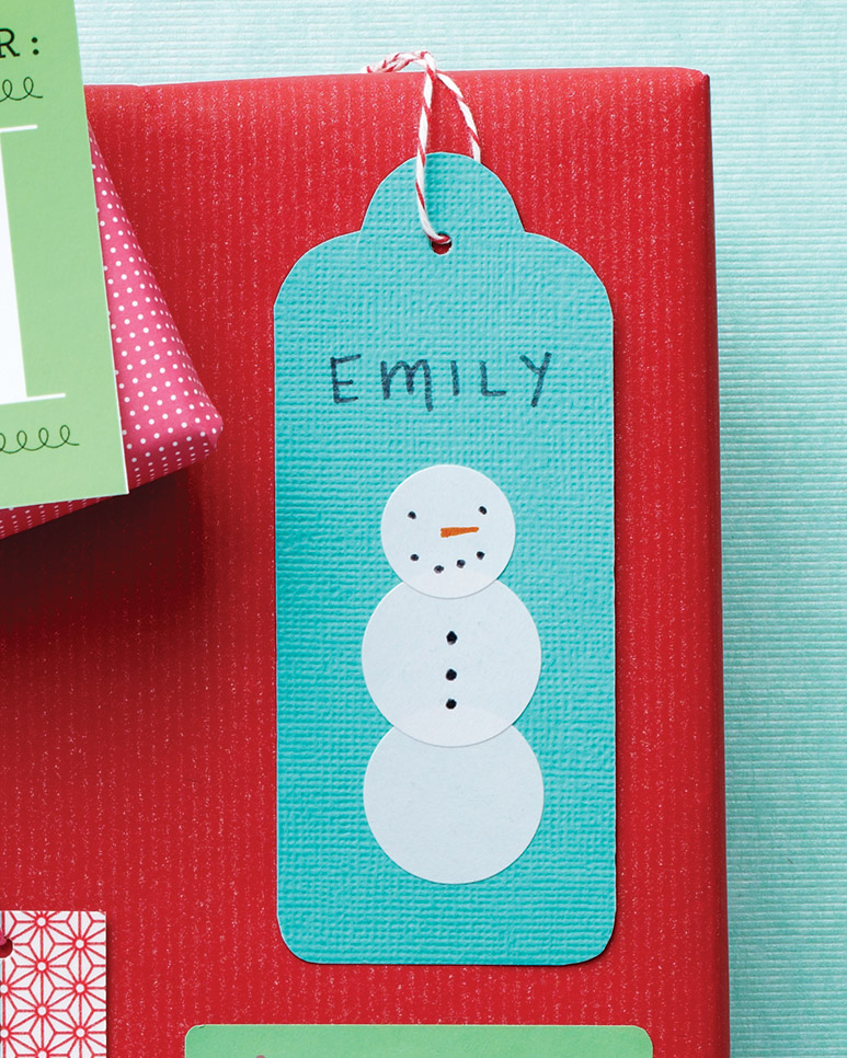 Rounded Snowman Tags