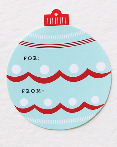 Patterned Christmas Ornament Tags