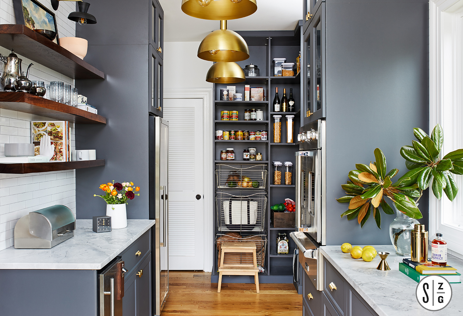 kitchen redo with open pantry storage
