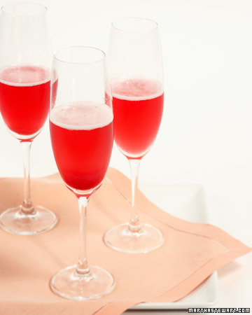 Red Currant-Champagne Cocktail