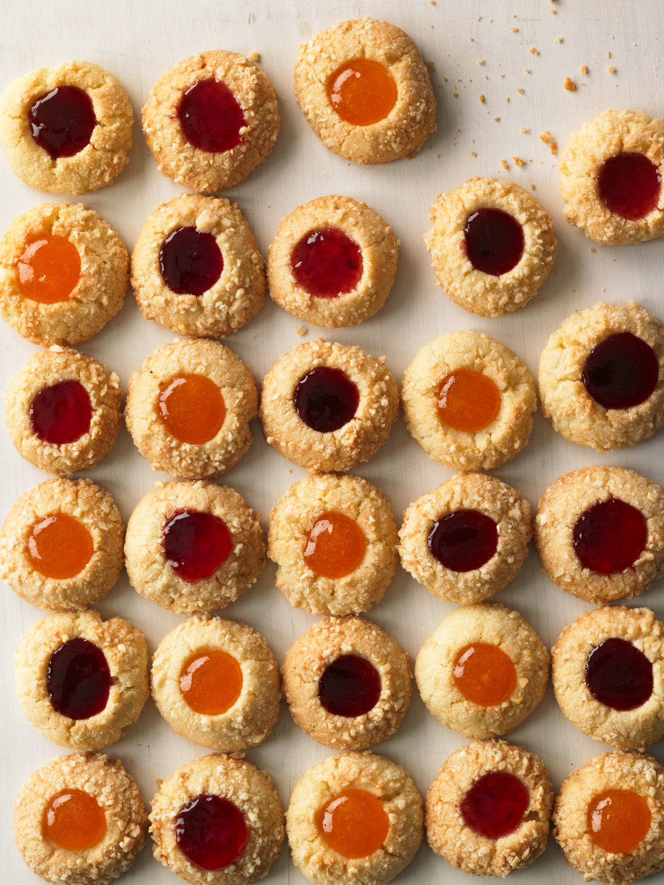 holiday handbook 2011 almond jam thumbprint cookies