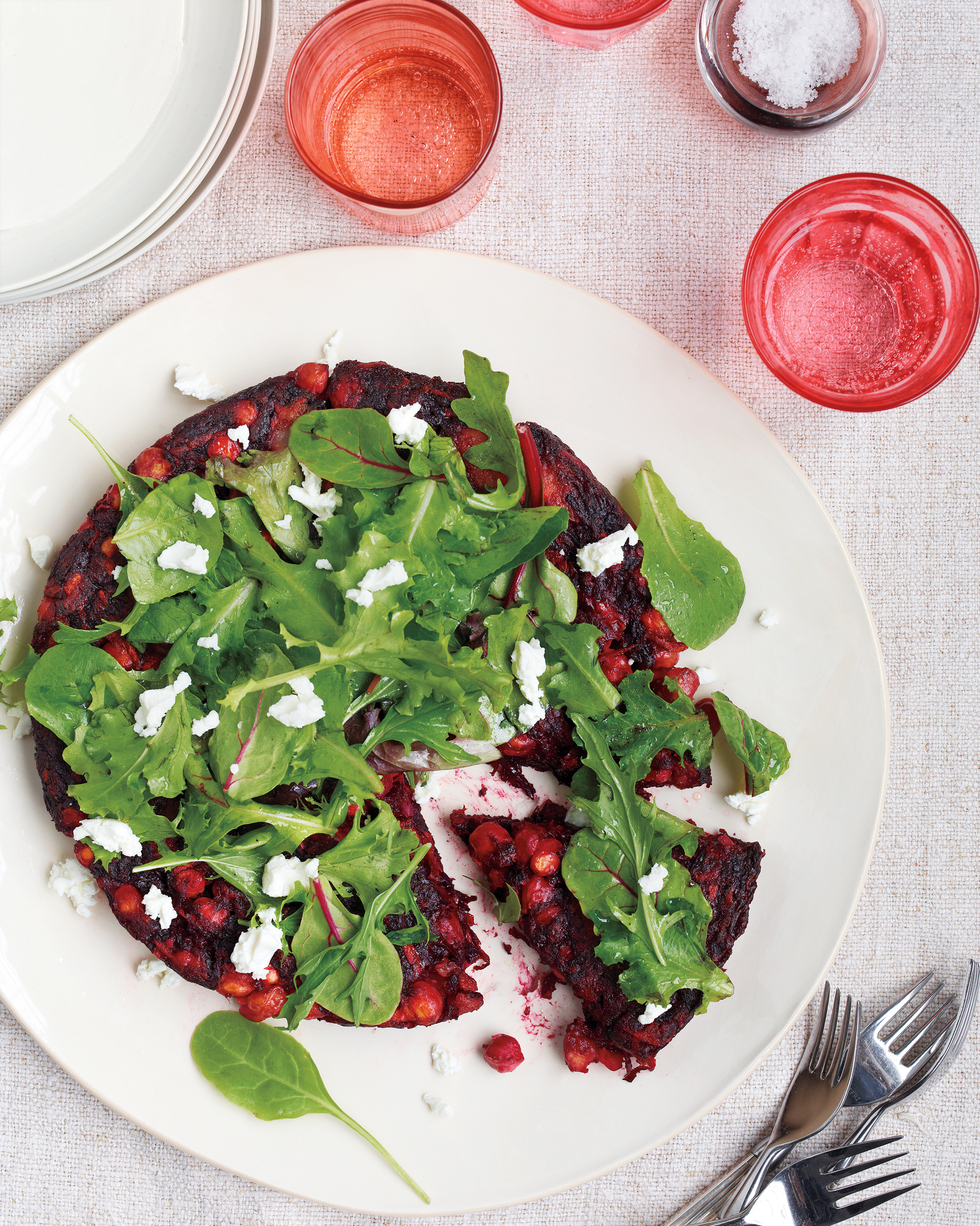 Harvest Vegetable Galette with Greens and Goat Cheese