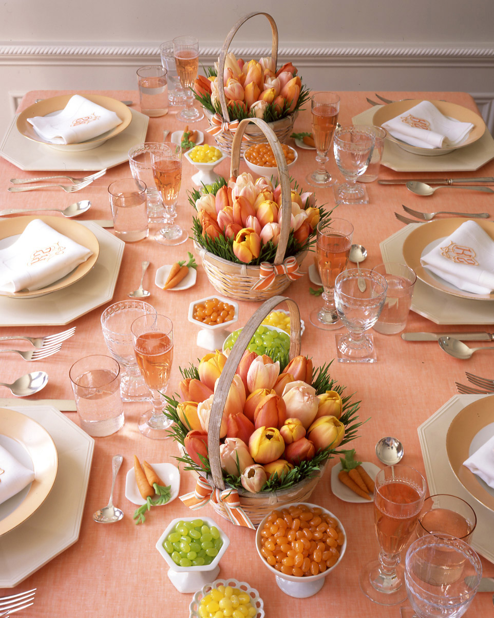 tulips and table settings