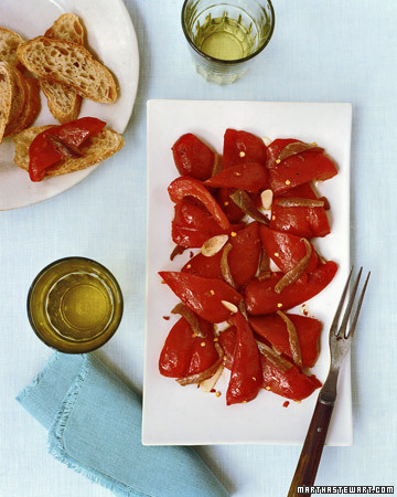 Roasted Peppers with Anchovies and Olive Oil