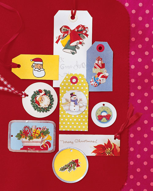 Holiday Card Gift Tags