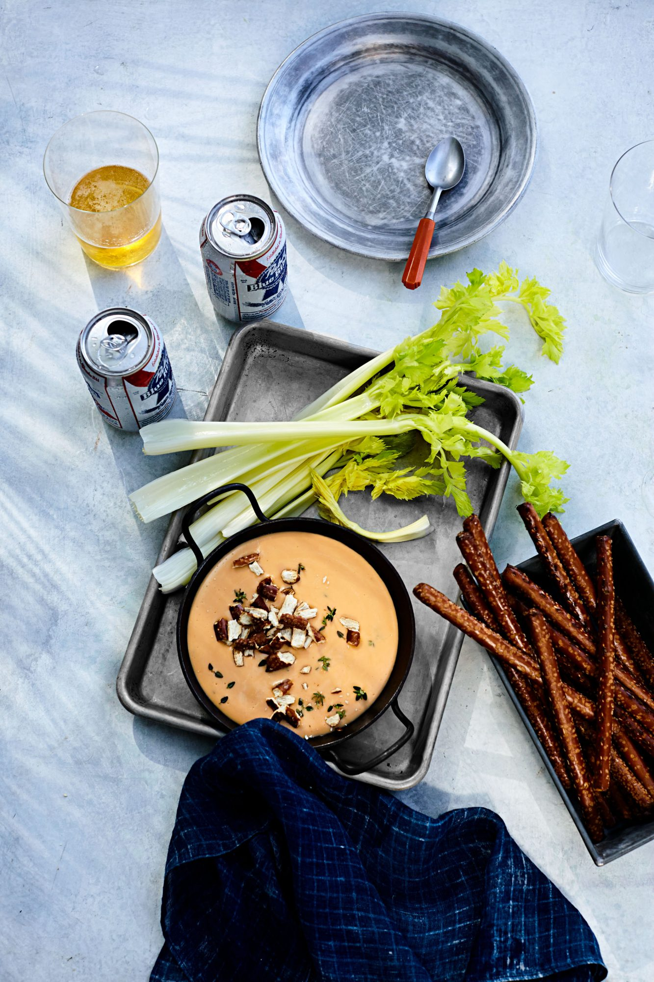 aged-cheddar and beer dip