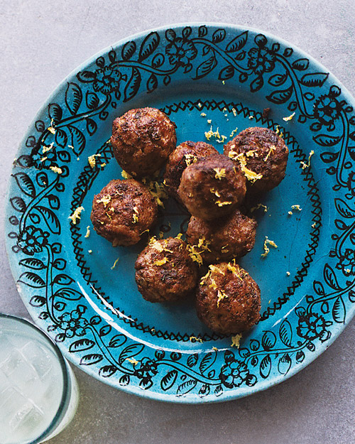 Meatballs with Ouzo and Mint