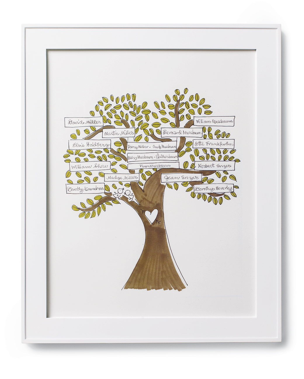 Hand-Lettered Family Tree