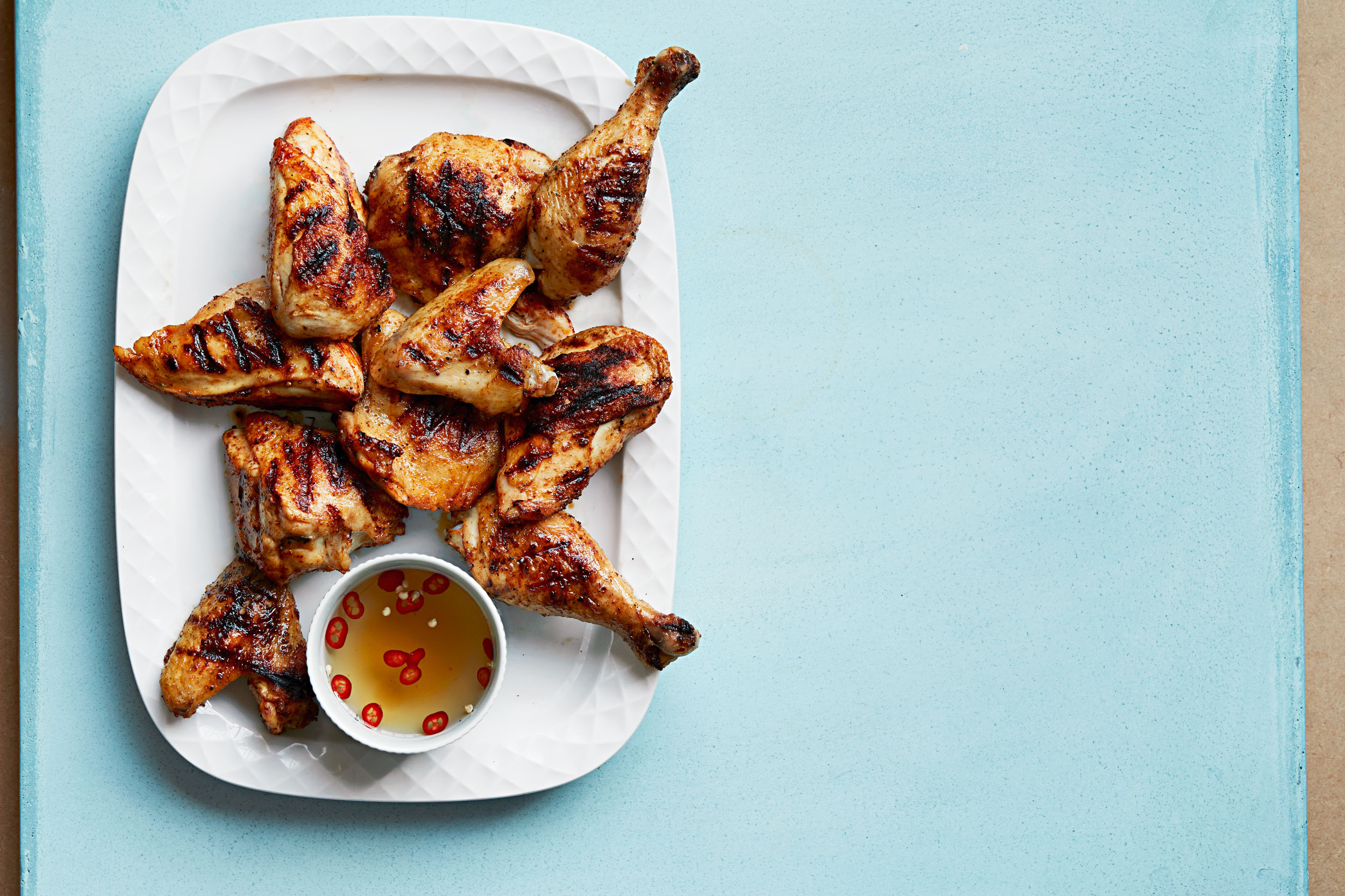 Spice-Rubbed Grilled Chicken with Sweet Vinegar Sauce