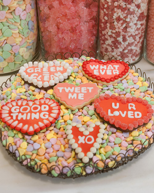 Conversation Cookie Hearts