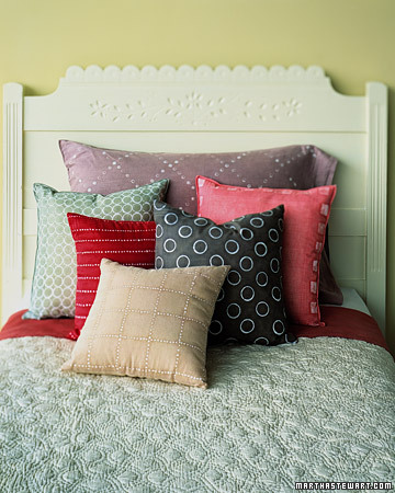Gingham Batik Pillows