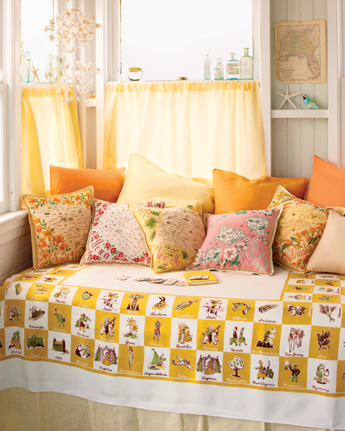 Map Textile Pillows