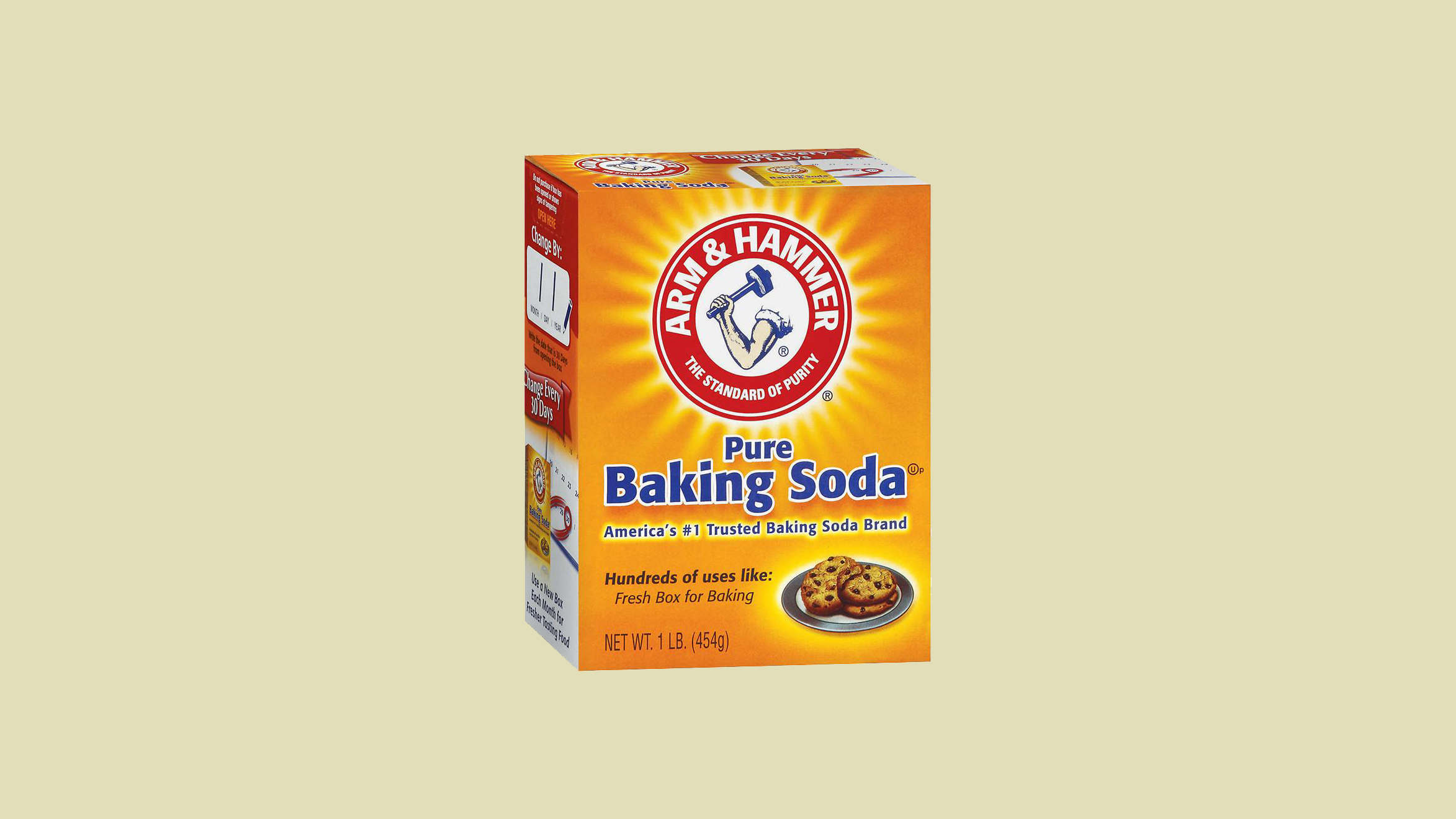 arm and hammer box of baking soda