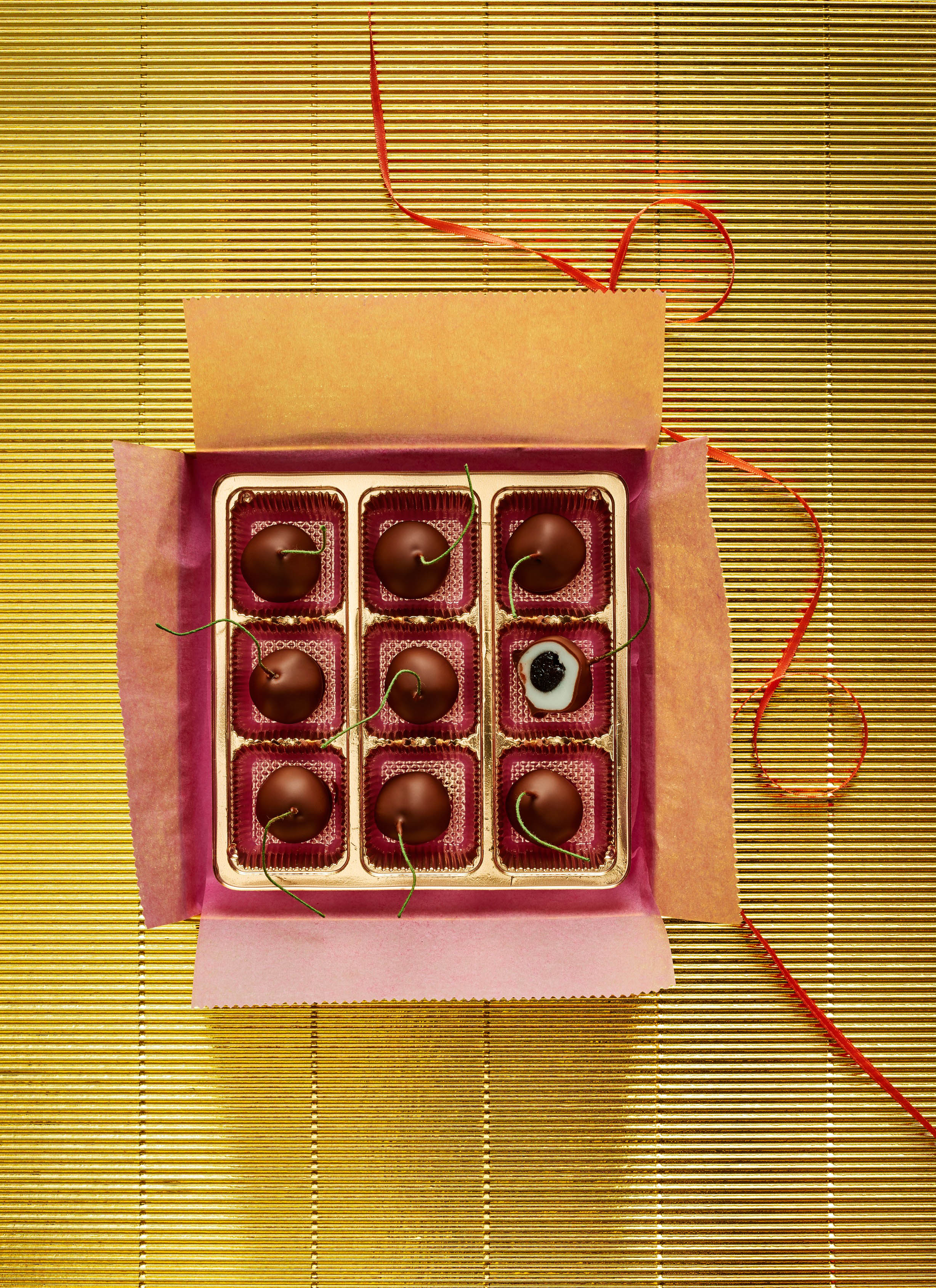chocolates wrapping box chocolate covered cherries