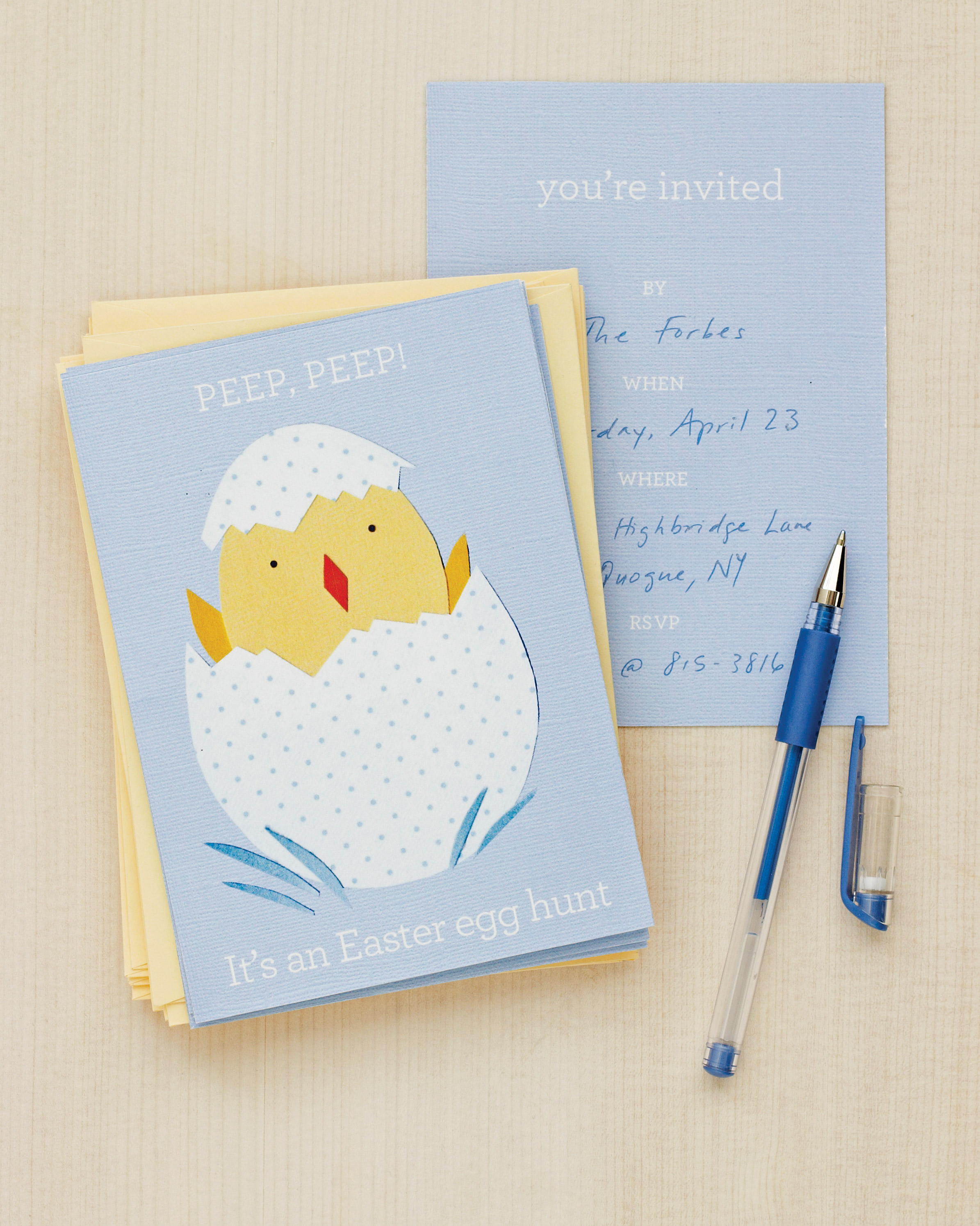 Easter Chick Invitations