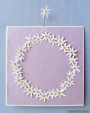 Daisy Chain Cutout Card