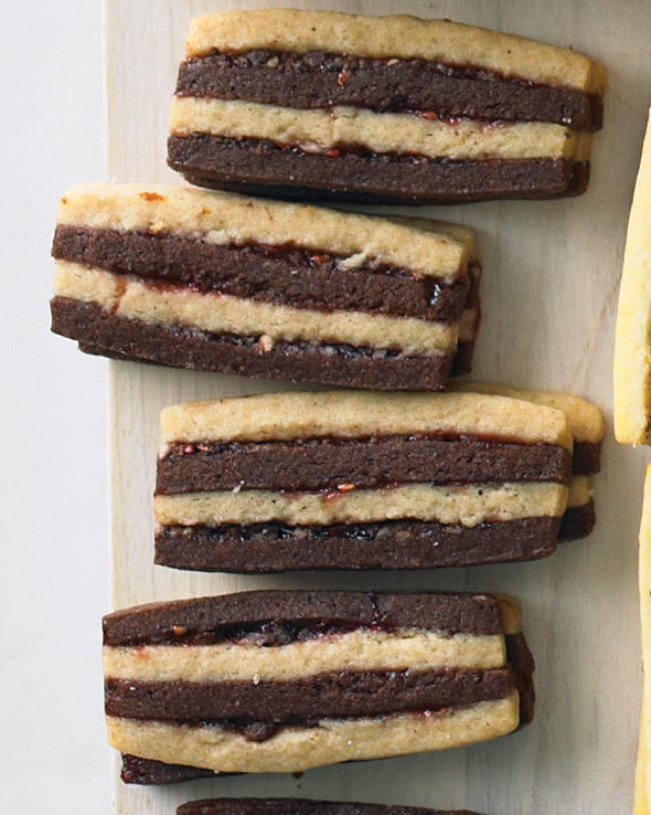 Chocolate-Pecan Layered Icebox Cookies