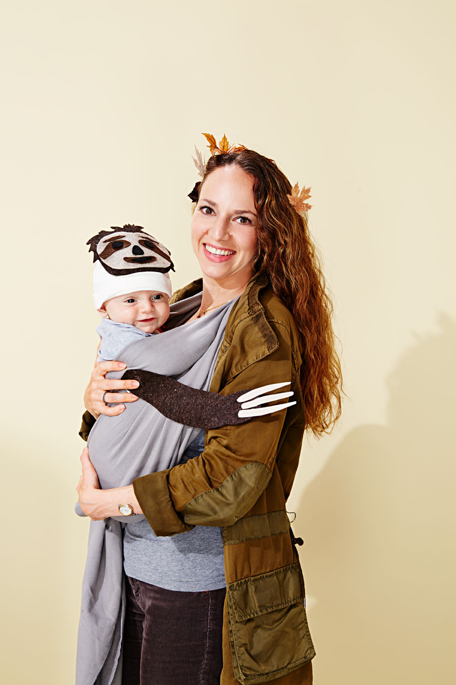 mommy tree and baby sloth costumes