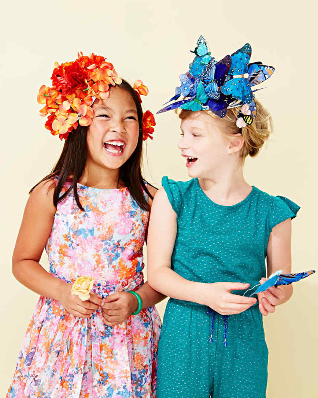 """""""flora and fauna"""" headpieces for fairy Halloween costumes"""