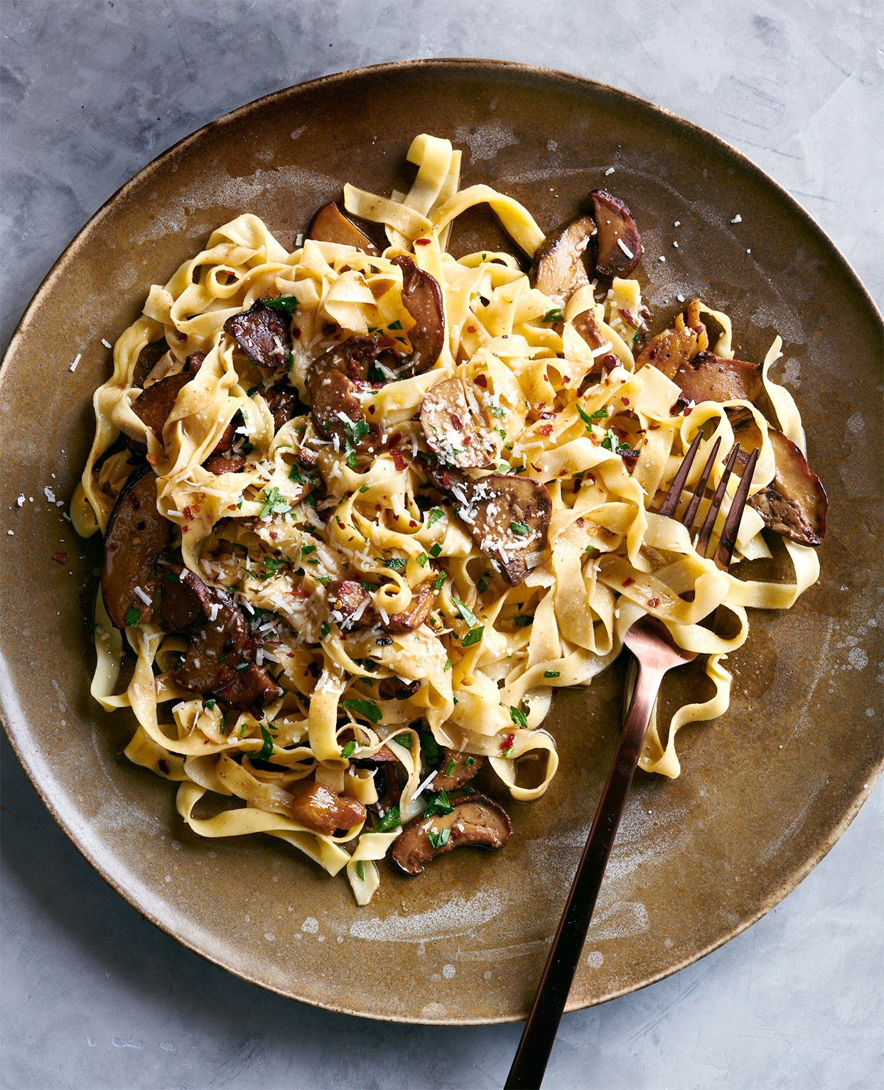 tagliatelle with porcini butter sauce