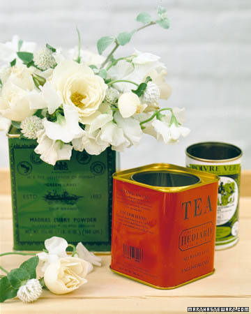 Tea-Tin Vases