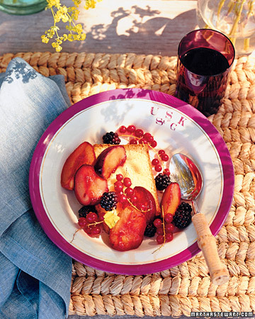 Cardamom Pound Cake with Roasted Late-Summer Fruit