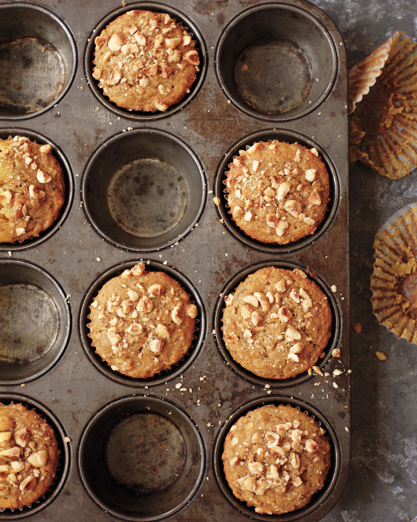 Gluten-Free Butternut Squash, Apple, and Hazelnut Muffins
