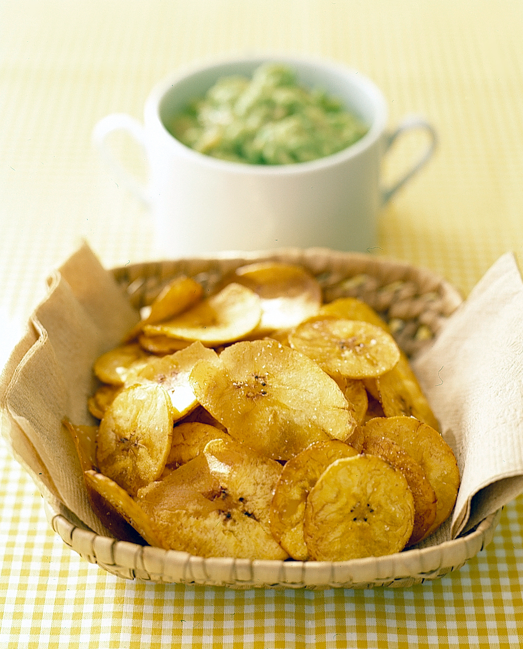 Banana-Avocado Dip with Plantain Chips