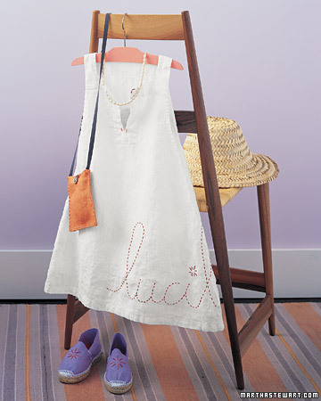 Embroidered Dress and Espadrilles