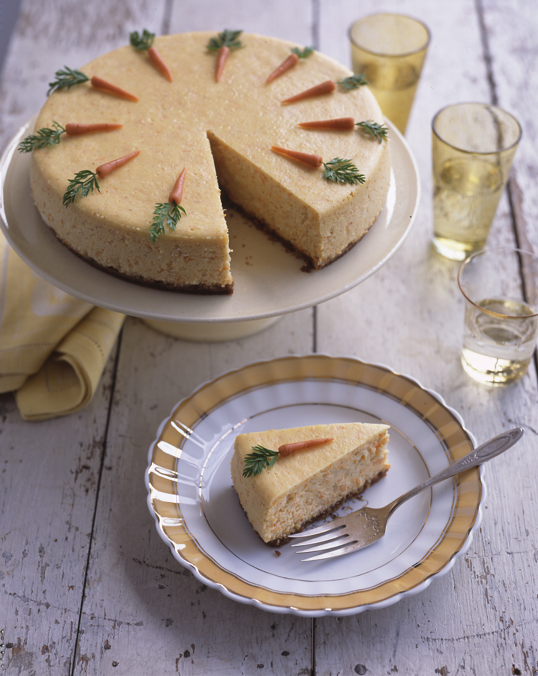 Carrot Cheesecake with Marzipan Carrots
