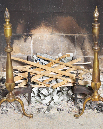 Create a Crisscross Pattern of Kindling