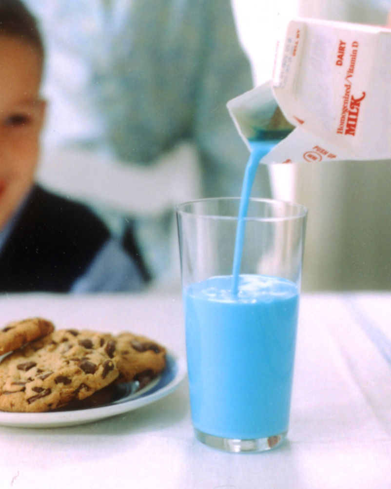 Milk Turned Blue