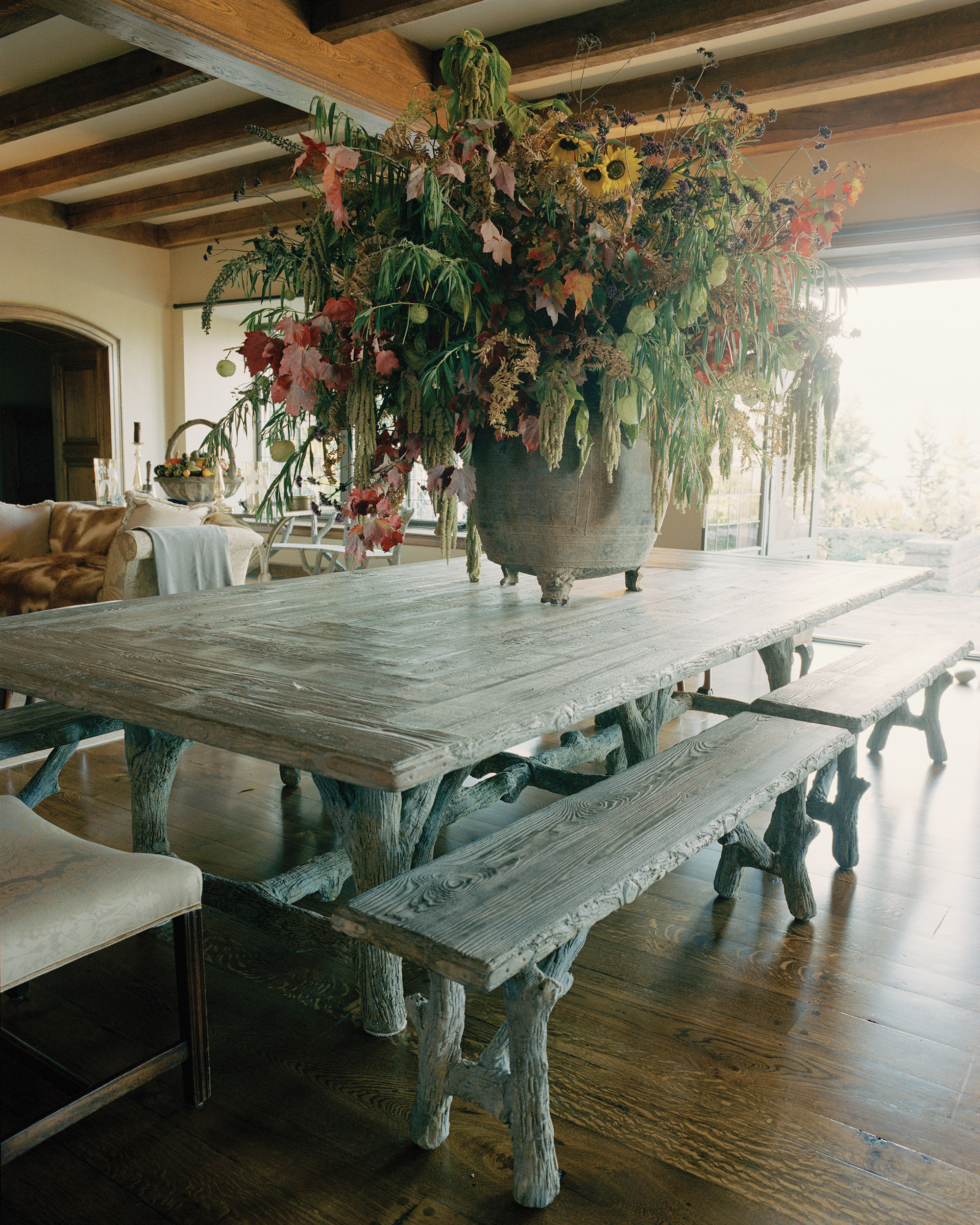 Martha's Faux Bois Table