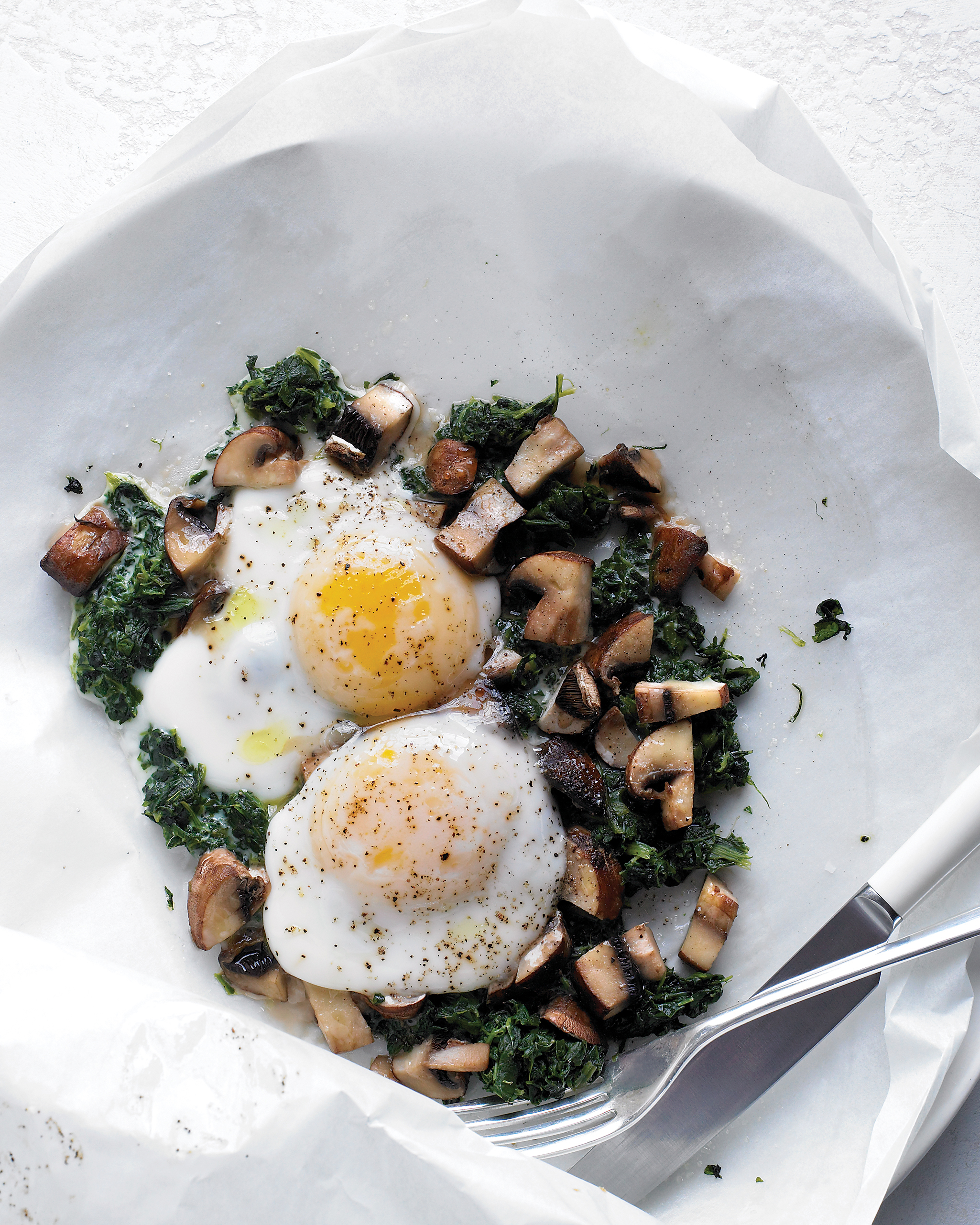 Eggs with Mushrooms and Spinach