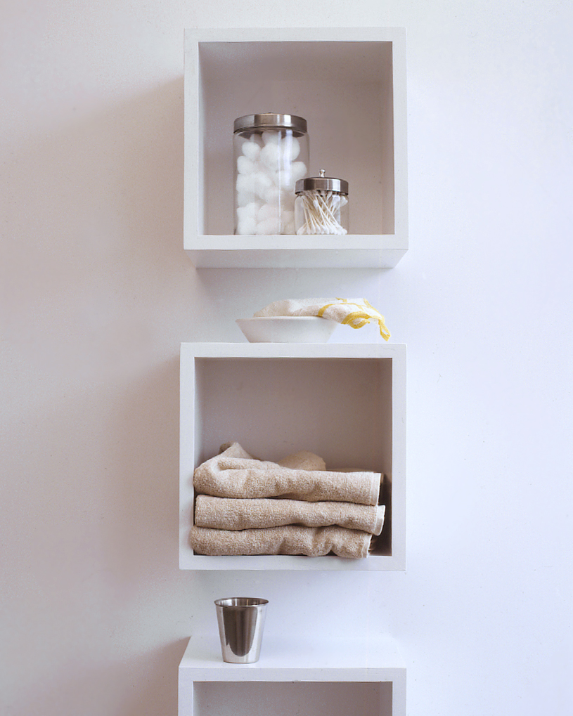 Bathroom Cubbyhole Shelving
