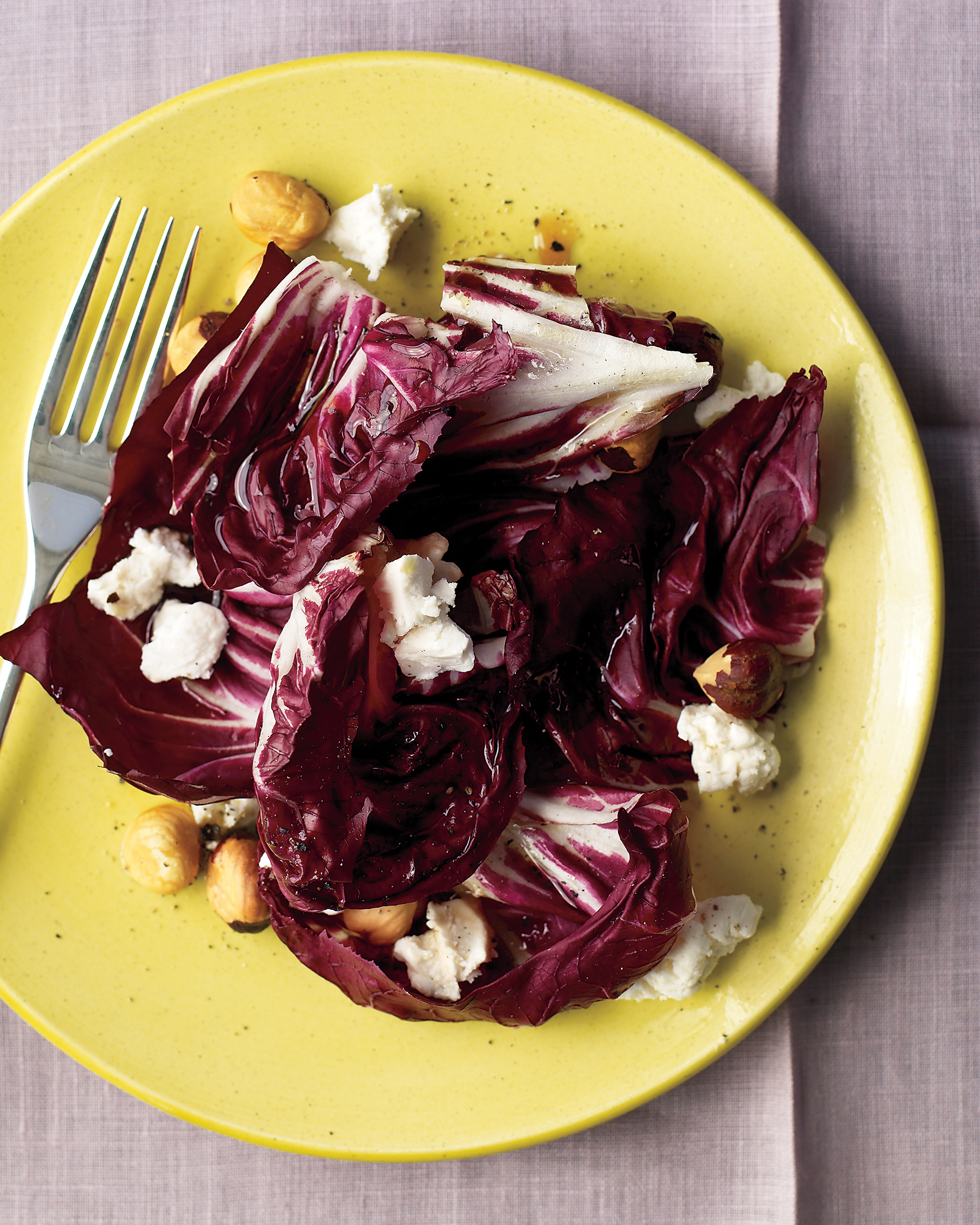 Radicchio, Goat Cheese, and Hazelnut Salad