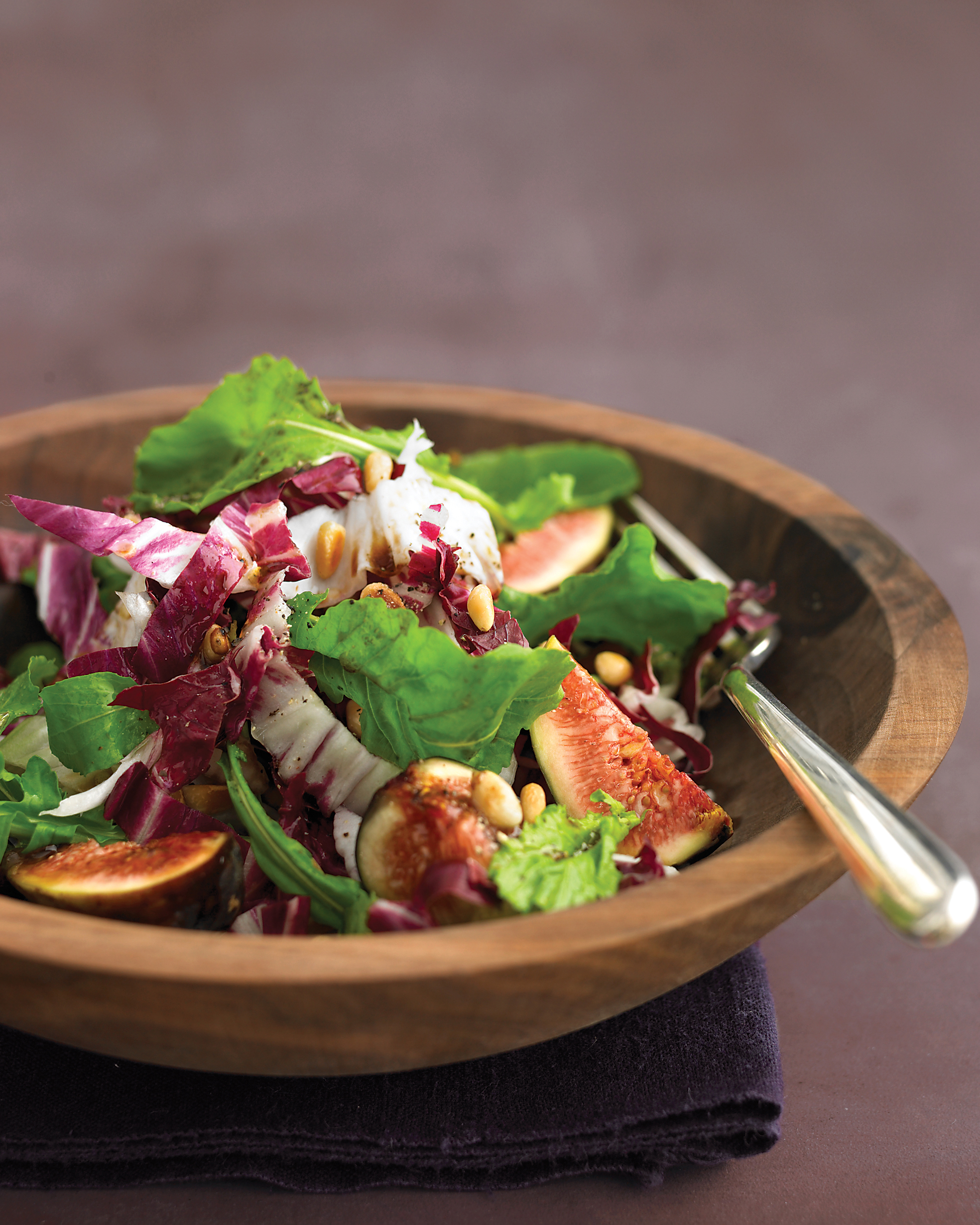 Arugula Salad with Figs, Pine Nuts, and Radicchio