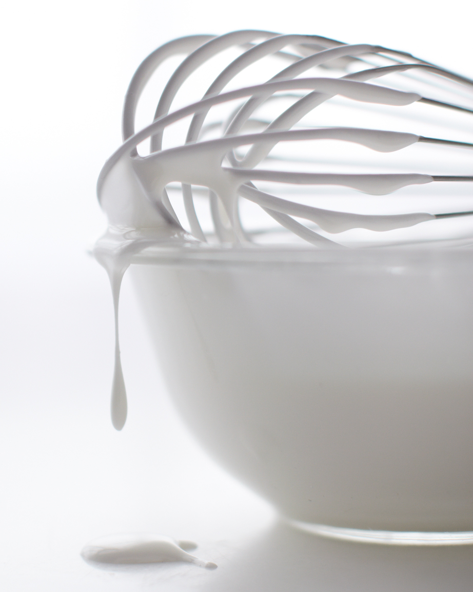 royal icing with whisk