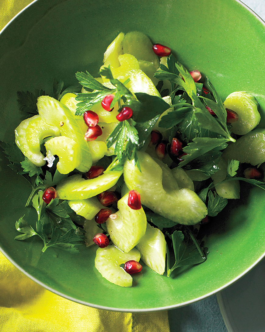 Celery and Parsley Salad with Pomegranate