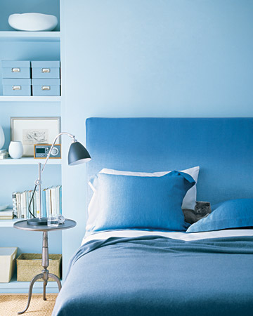 Blue Ombre Slipcover and Pillowcases