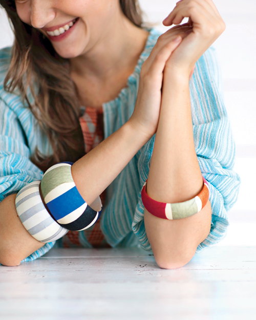 Striped Bangle Bracelets
