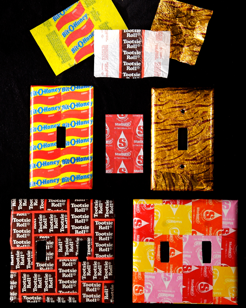 Candy-Wrapper Decoupage