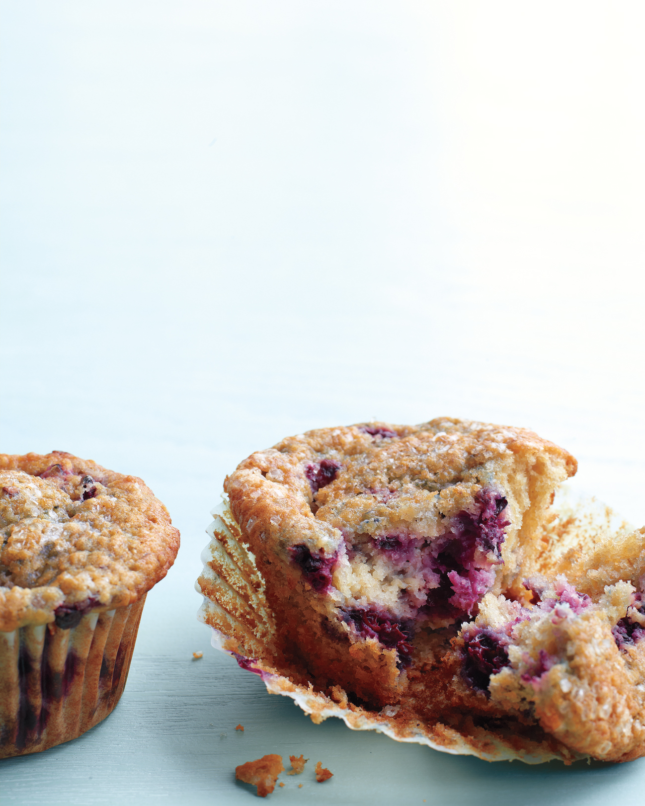 Blackberry Oat Bran Muffins