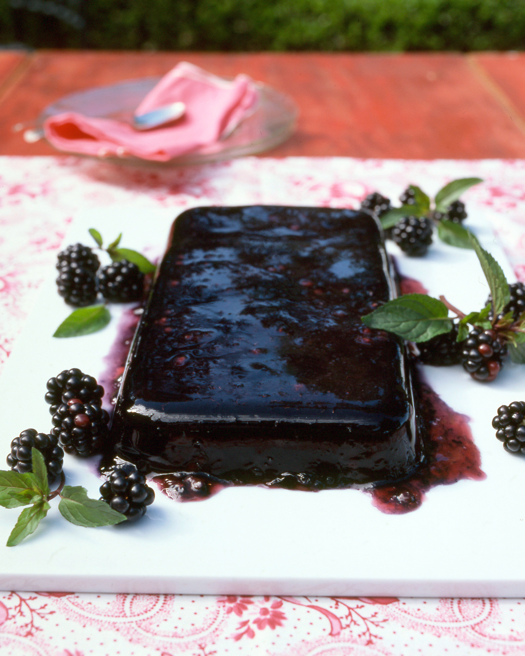 Blackberry Red Wine Gelatin