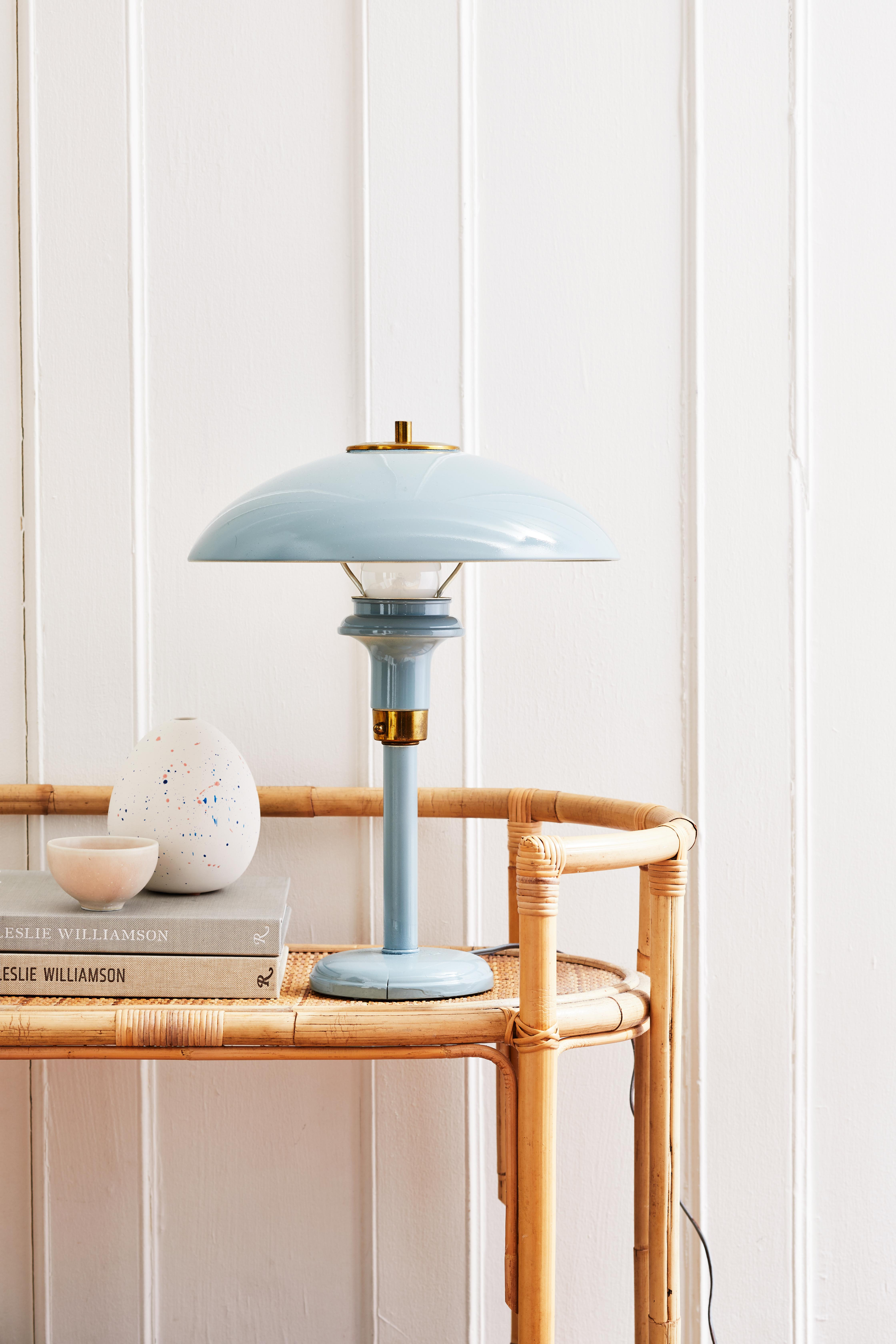 spray painted metal lamp