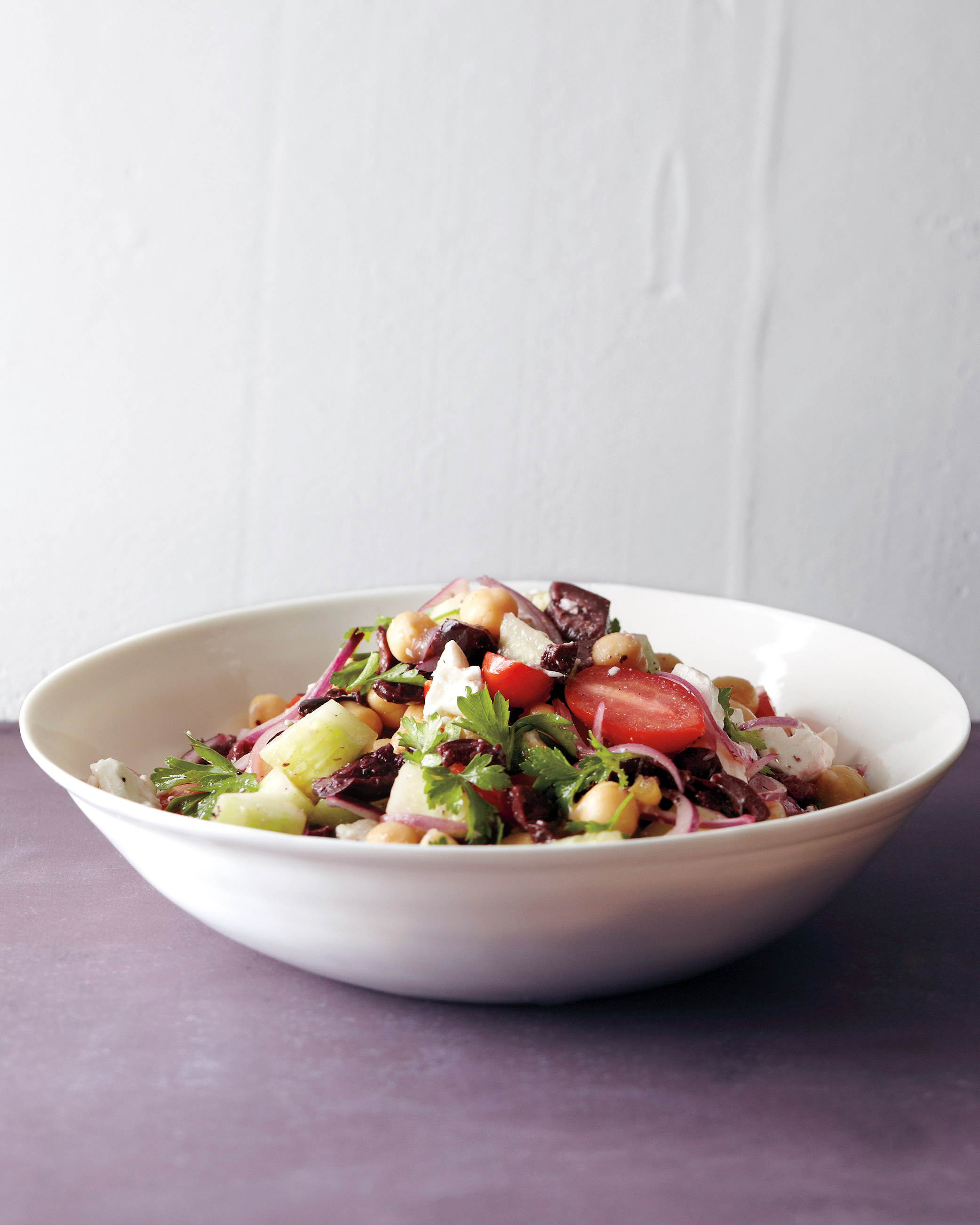 Greek Salad with Chickpeas