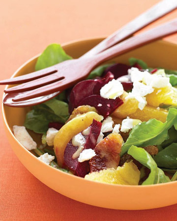 Orange, Roasted Beet, and Arugula Salad