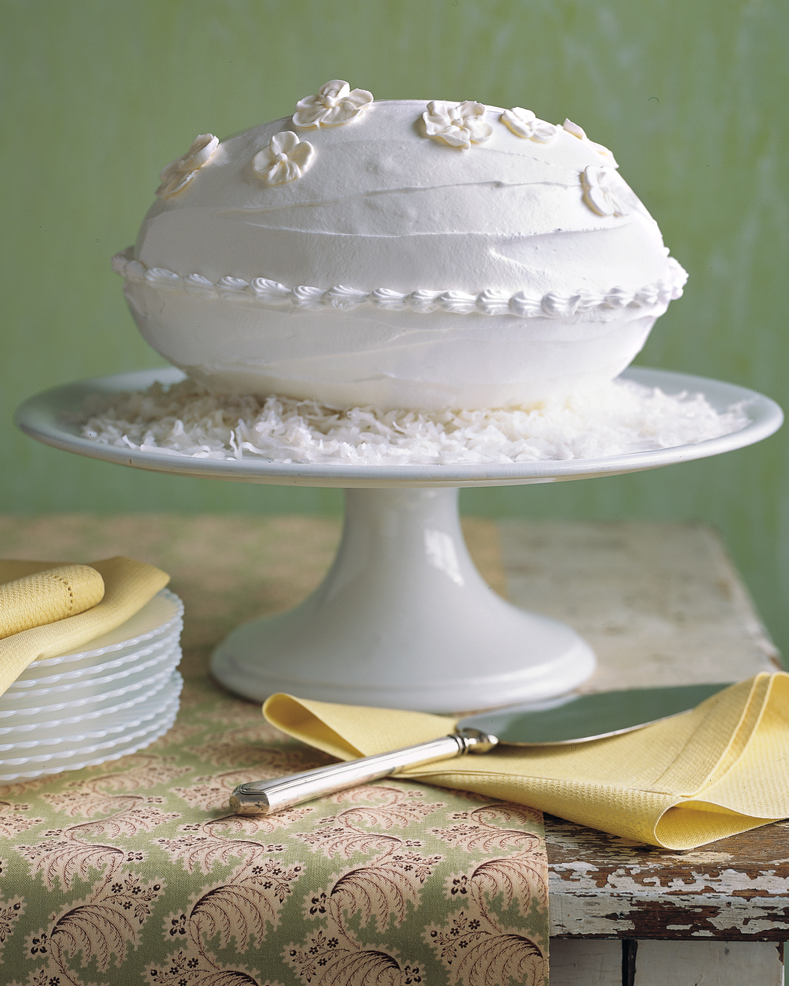 Coconut-Almond Egg-Shaped Cake