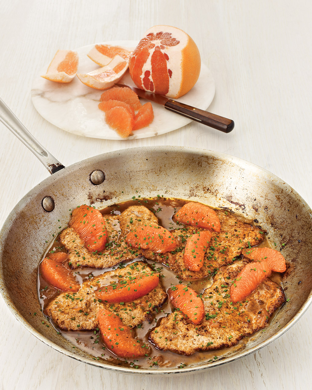 Veal Scaloppine with Ruby Red Grapefruit